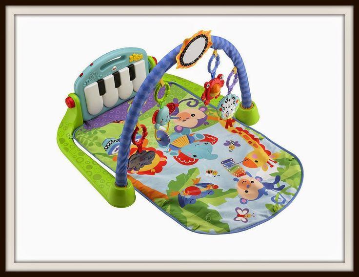 Gimnasio Piano y Pataditas de Fisher-Price  Con el #Gimnasio Piano y Pataditas de #Fisher-Price el niño da pataditas y suena la música, pero esto es solo el principio.