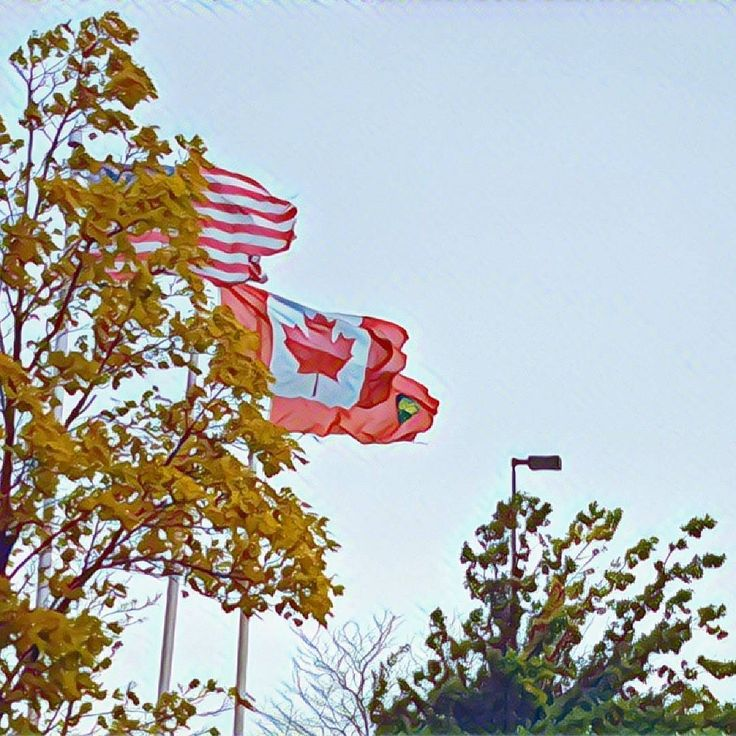 Flag #130 taken off the QEW while stopping for a bite to eat in Niagara on the Lake. Part of my #Canada150 flags.