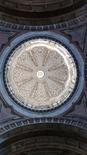 Koepel - Basiliek van Paleis in Mafra. #Portugal