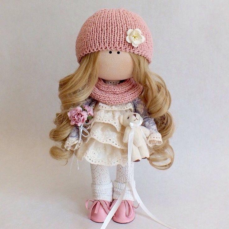 Купить Кукла Текстильная Интерьерная - кукла ручной работы, кукла в подарок…