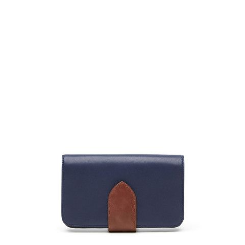 Sidewalk Wallet - Midnight Blue/Tan – Harlequin Belle