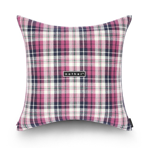 nother Madras Check Pillow (Pink)