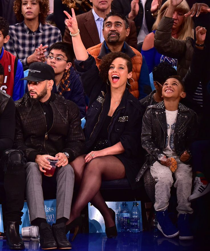 Alicia Keys and Her Famous Brood Steal the Spotlight at the New York Knicks Game
