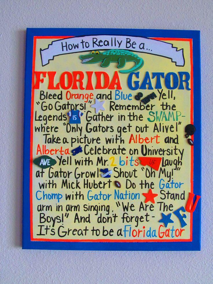 Yep!!  How to Really be a Florida Gator Canvas. $40.00, via Etsy.