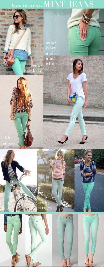 Women's Mint Skinny Jeans - Shop Cool Mint Jean For Women