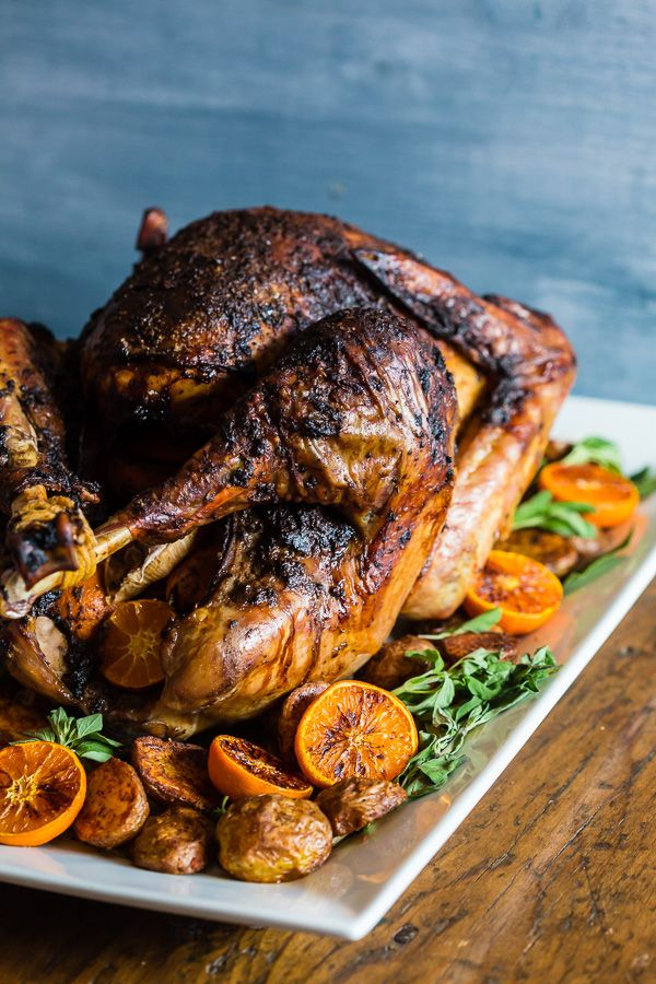 This adobo butter turkey is PACKED full of flavor and is the perfect turkey for your Thanksgiving day celebration. First, the turkey is marinated in adobo overnight and then rubbed down with flavor-packed adobo butter. Then it's roasted to perfection for a super juicy flavorful Thanksgiving turkey.