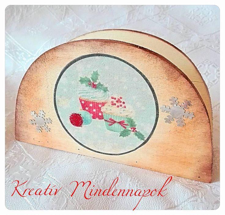 karácsonyi muffinos szalvétatartó