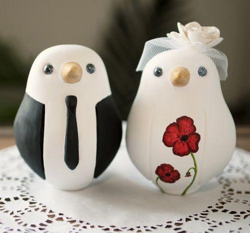 topper cake....se nn si era capito trovo l'idea degli uccellini molto romantica...se poi c'è un piccolo nido è anche meglio!