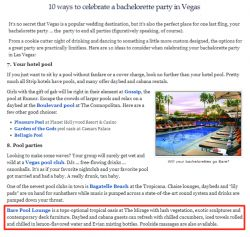 Bare Pool Lounge Featured on Vegas.com