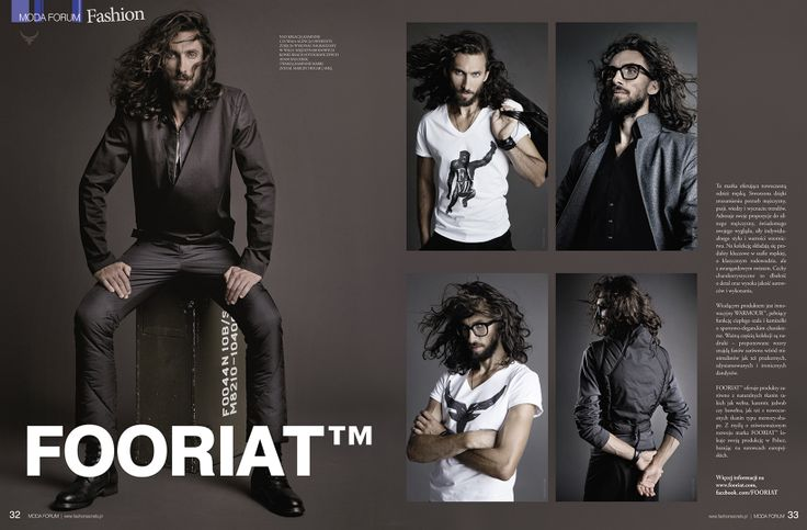 FOORIAT featured by MODA FORUM. Double-page!