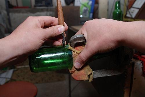 10 best reciclando botellas de cristal recycling glass - Cortar botella cristal ...