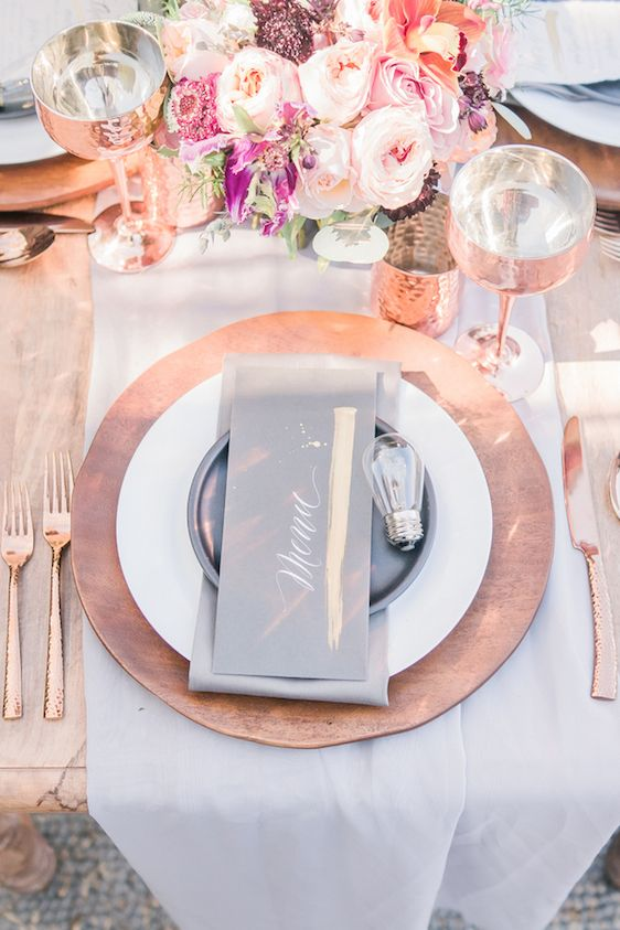 Industrial Chic Wedding Design with Intrigue Designs, Manda Weaver Photography, Adriana Marie Events