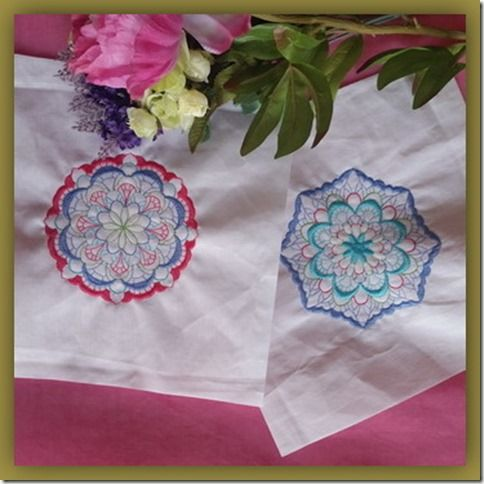 Exclusive Stitches: ES012–Floral Kaleidoscope Quilt Blocks