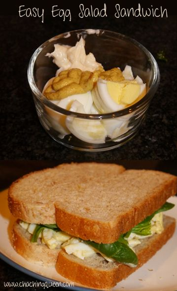 ... Easy and Healthy | Recipe | Egg Salad Sandwiches, Egg Salad and Salad
