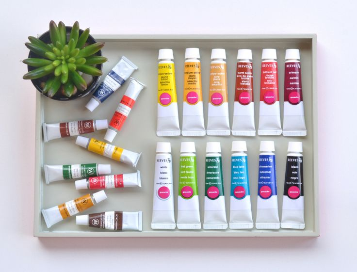Timely tip on buying discount art supplies on the blog | www.pacificandvine.com color paint flat lay gouache