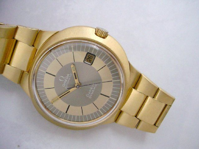 RARE Vintage Omega Dynamic 18K Solid Gold Case & Bracelet - http://menswomenswatches.com/rare-vintage-omega-dynamic-18k-solid-gold-case-bracelet/