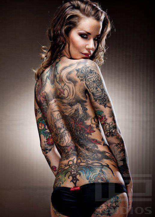 Naked girls with tattoos Nude Photos 45