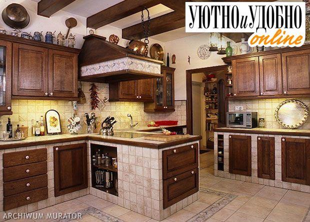 <strong>Кухня в сельском стиле.</strong> Для этого стиля мурованная кухня подходит как нельзя лучше. Важно подобрать максимально натуральные материалы и естественные отттенки и кухонный ансамбль будет безупречным