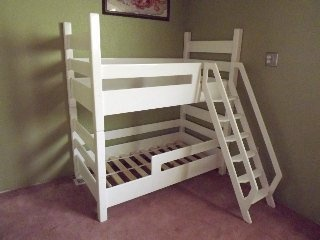 Toddler bunk beds! This is so awesome when you either have twins or when you have two children sharing a smaller room!