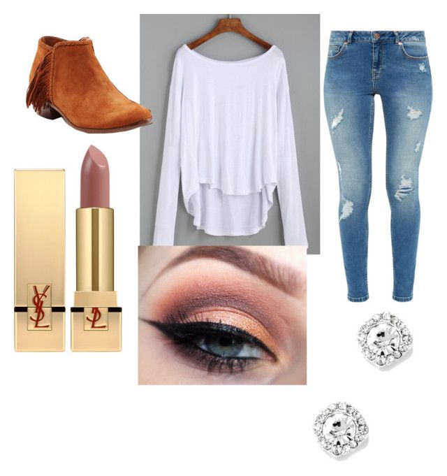 Elaina's Everyday Thing by aniarkdk on Polyvore featuring polyvore, fashion, style, Ted Baker, Sam Edelman, Yves Saint Laurent and clothing