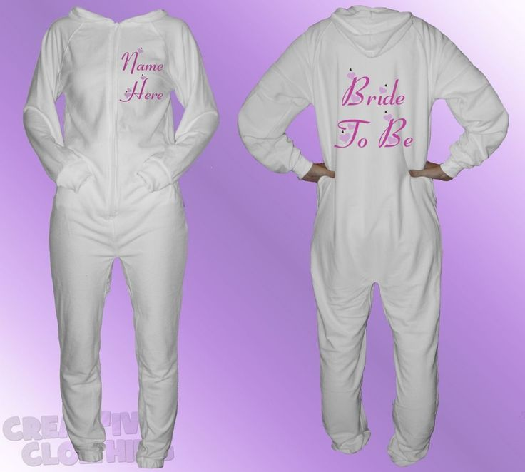 "Fabric: 80% Cotton 20% Polyester. 80% COTTON ONESIE. Back: ""BRIDE TO BE "". Be it with just the Bride or Groom's name on each or tailored to each individual's specific requirements we can provide these for you a price that is better than competitive. 