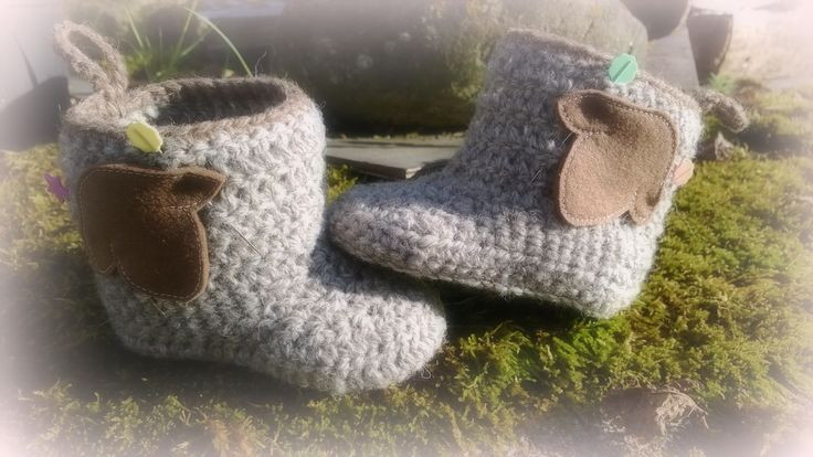 Half made little woolly booties... to be finished one day...or not :)