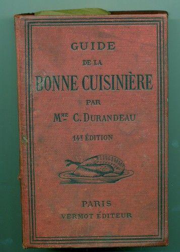 Livre de cuisine ancien