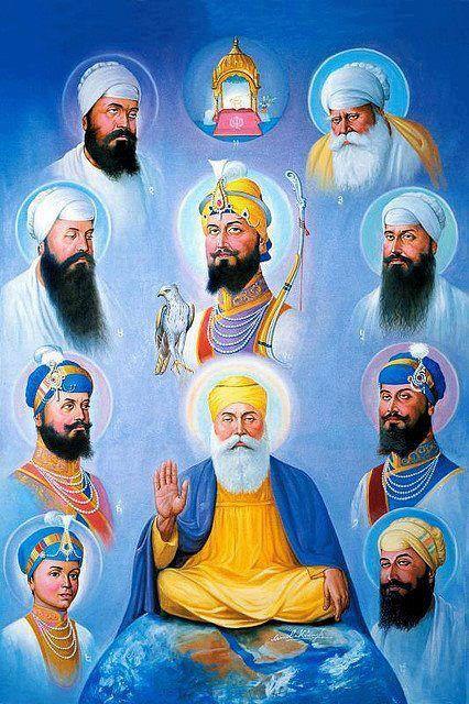 10 Guru Sahiban!