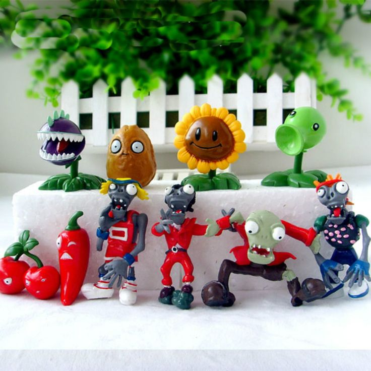 Hot Selling 10pcs/set Plants VS Zombies 1 Toys PVC Model Peashooter Sunflower Action Figure Toys Doll //Price: $US $11.43 & FREE Shipping //     #toys