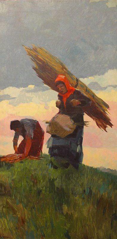 Renato Natali The Gabbrigiane Fascinaie, Oil On Canvas-100 x50 Courtesy Galleria Athena