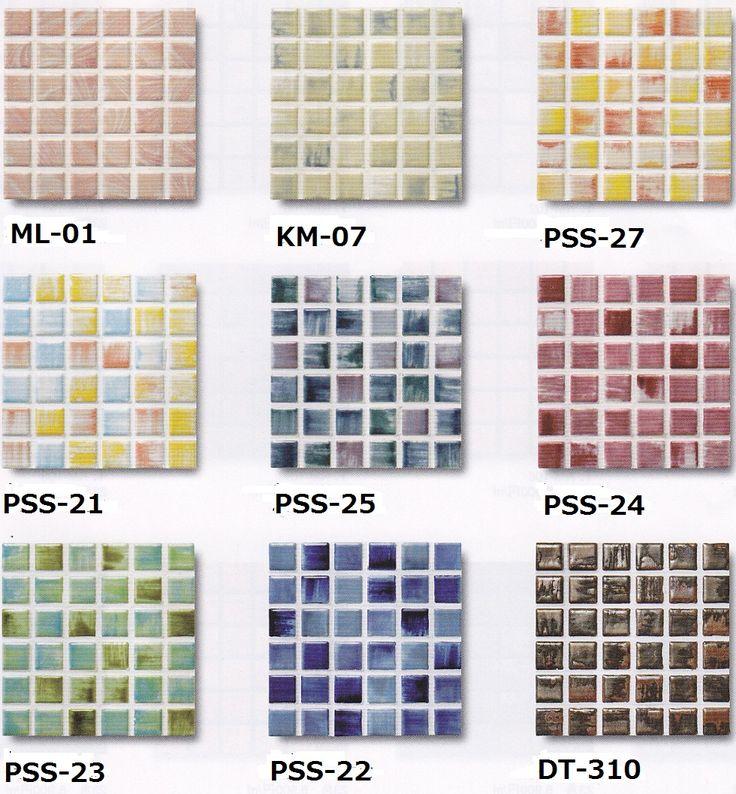 【ビビット】23角モザイクタイル 大理石調 ブライト色 1シート(144粒)単位の販売【楽天市場】