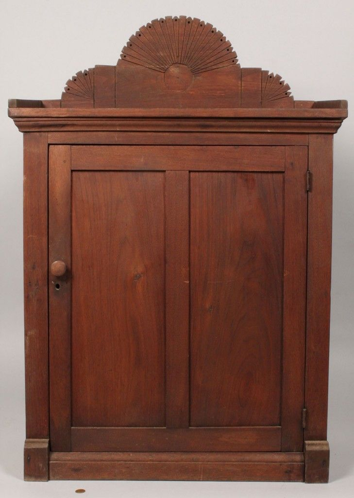 Lot 519: East Tennessee Walnut Hanging Cupboard - 293 Best Southern And Appalachian Antiques Images On Pinterest