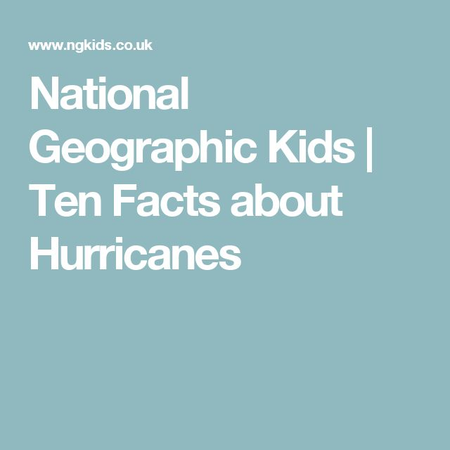 National Geographic Kids | Ten Facts about Hurricanes