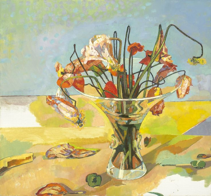 Anthony Springford, Poppies in Steuben Vase, giclee print on paper, 2014