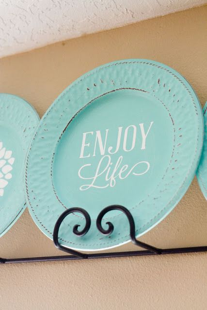 Lovely Little Snippets: Another Plate Makeover
