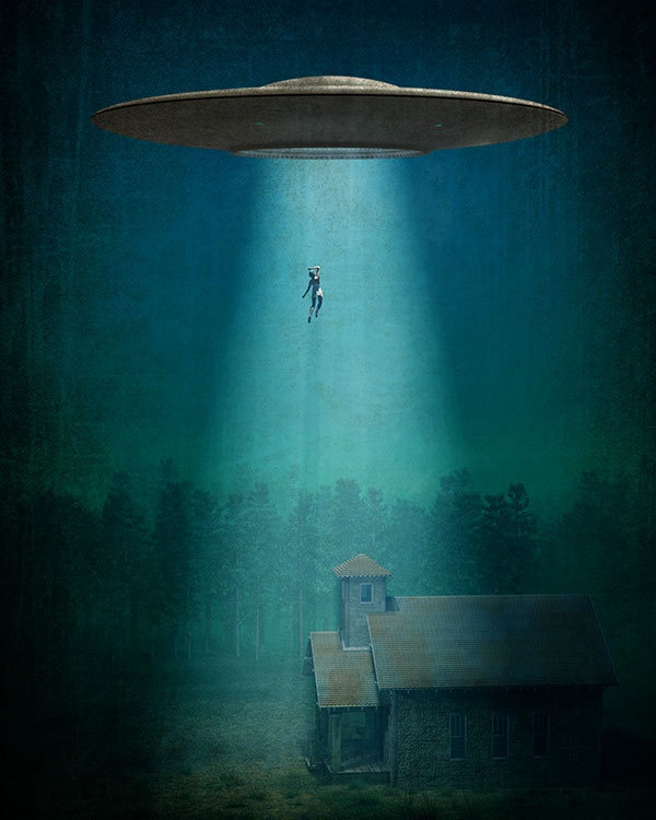 16x20 Alien Abduction Poster by JWCdesigns on Etsy
