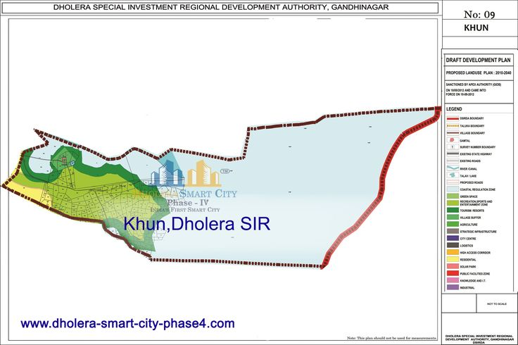 Map of KHUN, DholeraSIR #Dholera #DholeraSIR #DholeraSmartCity #Gujarat