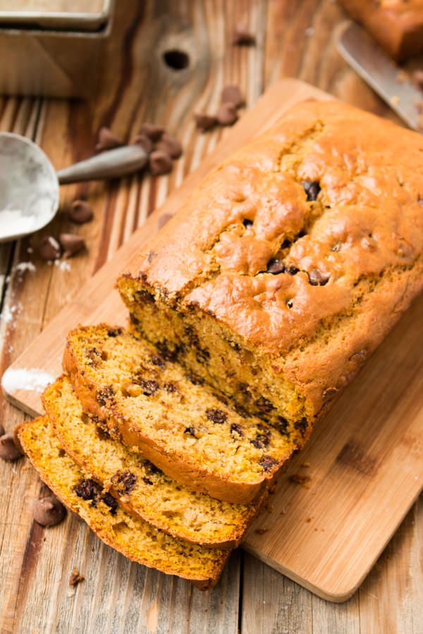 This chocolate chip pumpkin banana bread recipe is one of our favorites for all winter long!