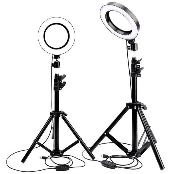 10inch Led Ring Light Photo Studio Camera Light Photography Dimmable Video Light For Youtube Makeup Selfie With 26 Inch Tripod Phone Holder Vsg910 In 2020 Ring Light Photo Led Ring Light Led Ring