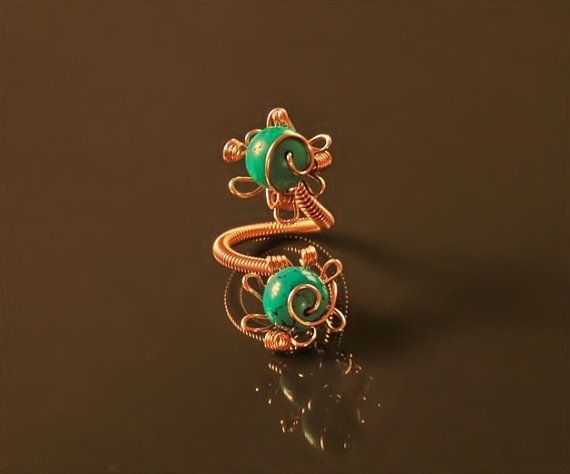 Turquoise ring adjustable turquoise jewelry wire by styledonna