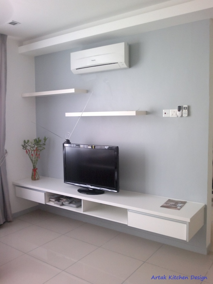 Intech kitchen sdn bhd formerly artak kitchen design for Wall mounted tv cabinet design ideas