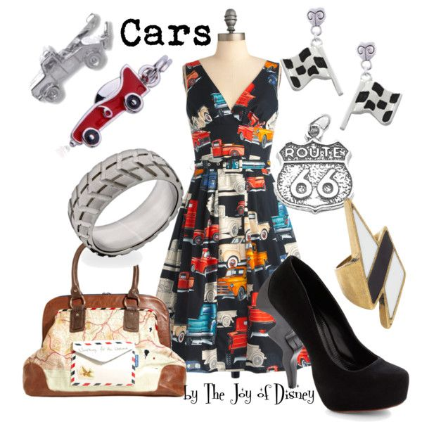 """Cars by Pixar"" by thejoyofdisney on Polyvore; I love the silhouette of the dress."