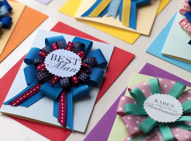 Kalo Make Art Bespoke Wedding Invitation Designs: Bespoke Handmade Rosette Award Card