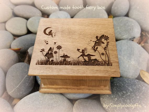 THIS IS A SMALL TOOTH FAIRY BOX FOR GIRLS! A FAIRY IS CHASING THE TOOTH! HOW COOL IS THAT! tooth fairy box  Welcome to…