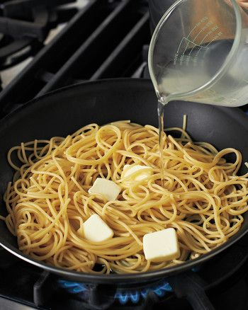 Everyone's an expert when it comes to this sublime amalgam of pasta, cheese, and black pepper. Some cooks prefer to simply toss hot pasta with Pecorino Romano in the age-old way. Others like to create a creamy pan sauce, relying primarily on Grana Padano, which, unlike Pecorino, melts beautifully. We're in the latter camp (and we up the ante by adding the brightness of lemon), but that means technique is all-important.