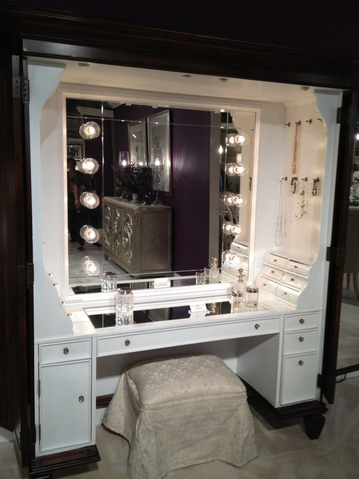 Cheap Makeup Table With Mirror Single Mirror On White Room Interior  Standing Large Mirror Brown Wooden