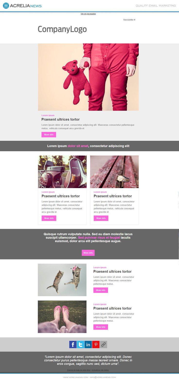 31 best Plantillas de email y Newsletters images on Pinterest ...