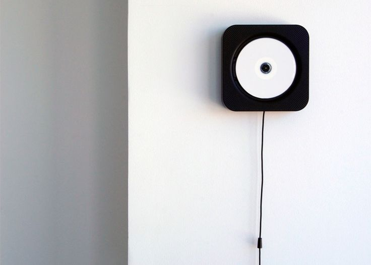 Wall-mounted CD player by Naoto Fukasawa for Muji.