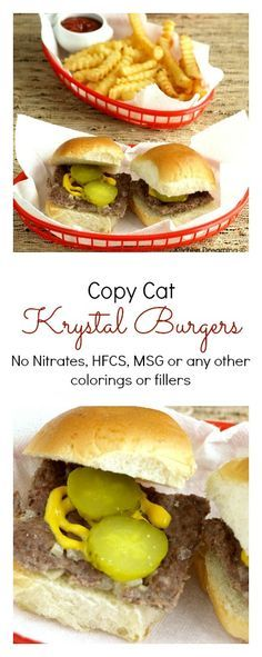 Make your own Krystal burgers at home! Controlling the ingredients is always a plus but now you can have Krystal burgers anytime you like with these quick and easy burgers.