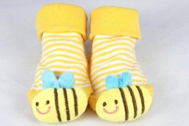 Amazon.com: Candicheeks Character Socks Size-0-12m (Bumble Bee): Baby